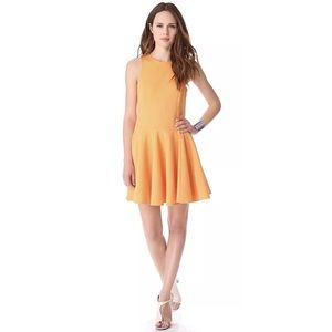 NWT Tibi Ponte Sleeveless Dress Orange Medium $475